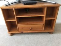 Pine TV stand, good used condition