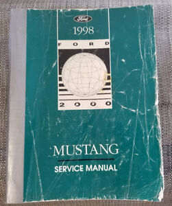 1998 Ford Mustang Factory Service Manuals