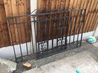 Wrought iron solid gate door