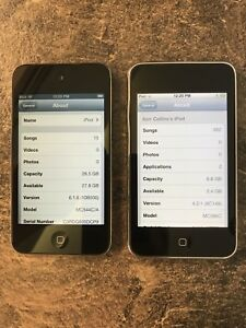 2 x black Apple iPods for sale