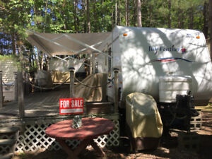 28 foot Jayco Feather Camper Trailer at Southbay Park + Extras