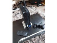 Playstation 2 with FMCB,2TB internal hard drive,6 games,remote control & controller