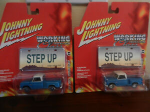 Johnny Lightning 1964 Chevy Stepside Pickup Variations Lot of 2