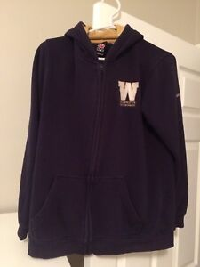 Women's Blue Bomber Zip Up Hoodie