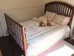 Furniture set - double bed, dresser, hutch, mattress