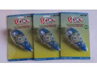 Stix2 Acid Free Permanent Transfer Tape Pen - (8.4mm x 12m) x 3 Pens - New