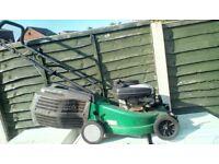 Flymo petrol push lawnmower