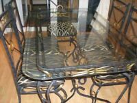 Glass Table and chairs for sale asap