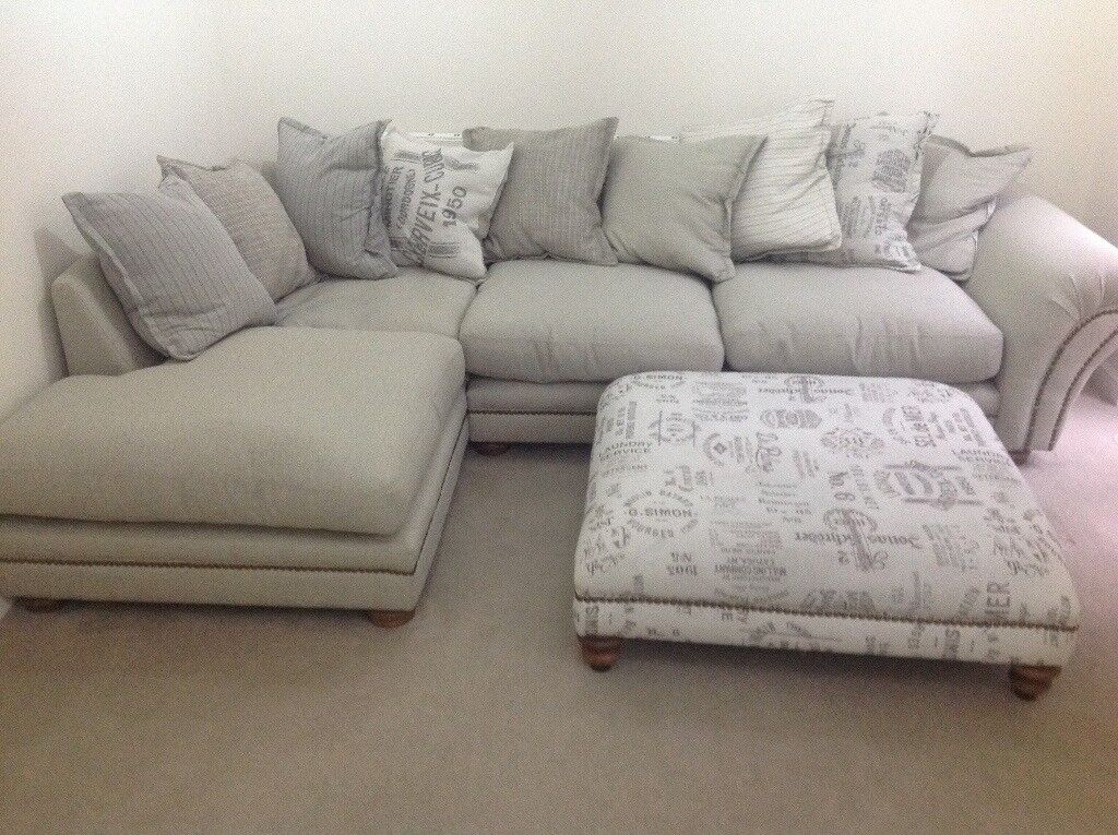 Huge Comfy Corner Sofa With A Mive Foot Stool