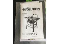 EVOLUTION FURY 5-S UNUSED TABLE SAW