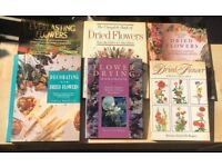 6 Dried flower books, all hard covers, good condition, full of information and photographs