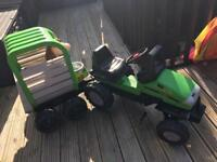Childs tractor and trailer