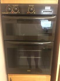 Double electric oven with matching gas hob