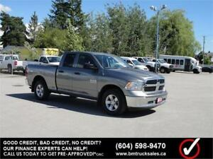 2013 DODGE RAM 1500 ST QUAD CAB SHORT BOX 4X4 ONLY 74000KM