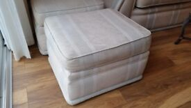 Suite of 2 sofas, 3 seater,2 Seater and 2 footstools. Good condition, pet and smoke free.