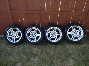 BMW M Wheels Rims 17 Inch E46 36 Michelin Winter Tires 2254517