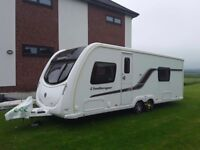 Swift challenger 620sr 2011 twin axle, fixed bed.