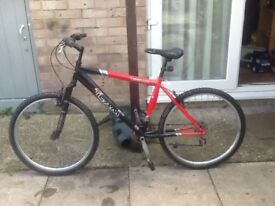 Urban team bike in good condition £40 can deliver for petrol26 wheel18 frame 18 gears no offers