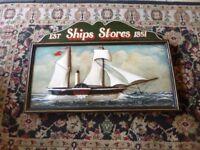 Vintage Ship's Store Wooden 3d Pub Sign