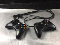 X box 360 two wireless controllers plus charger