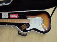 Left handed Fender American standard stratocaster (made in USA)