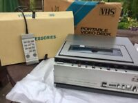 Vintage Boxed Hitachi Portable VCR Tuner