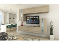 Modern Wall Unit SONOMA Cabinets Furniture C 30 SYMETRIC Led Free Delivery Cash On Delivery!!