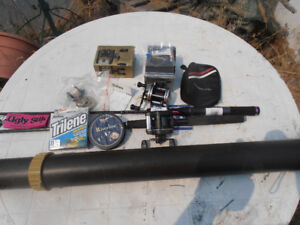 Two Bait-Casting Rod & Reel Sets, extras