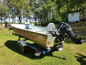 Boat Motor and Trailer Package