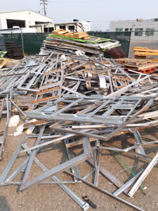 Scrap metal and pallets