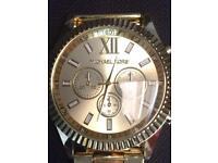 Women's Gold Michael Kors watch