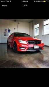 Mercedes Benz  Mercedes ,C350 , AMG, Panoramic , red , coupe