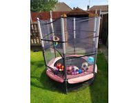 Small Childrens Trampoline with net enclosure, 55""