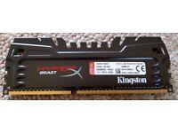 Kingston HyperX Predator Beast DDR3 16 GB (4x4 GB) DIMM 240pin CL13 HX324C11T3K4/16 - Mint and Boxed
