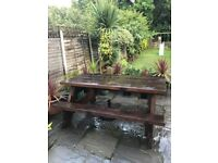 GARDEN/PUB PICNIC BENCH SUPER SOLID TIMBER & HAND MADE