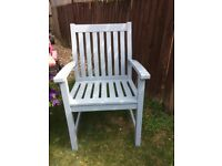 John Lewis garden table and 6 chairs