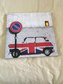 England, Union Jack mini car canvas.