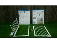 Pressure fit safety gate - tall - white - Mothercare