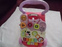 VTECH FIRST STEPS BABY WALKER PINK/LILAC