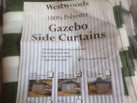 Gazebo Side Curtains x 3