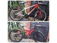2 children bikes 24 inch wheels