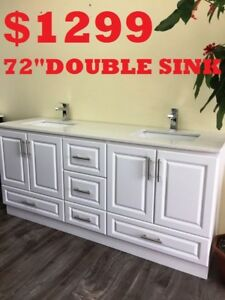 "Bathroom Vanities ***60""DOUBLE SINK $799*** 72""DOUBLE SINK $1299"