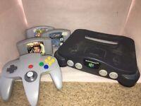 Nintendo 64 + 3 controllers + 3 games