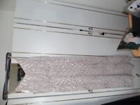 size 18 pink sequined evening dress thin straps lovely new