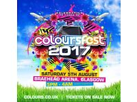 X2 tickets for colourfest