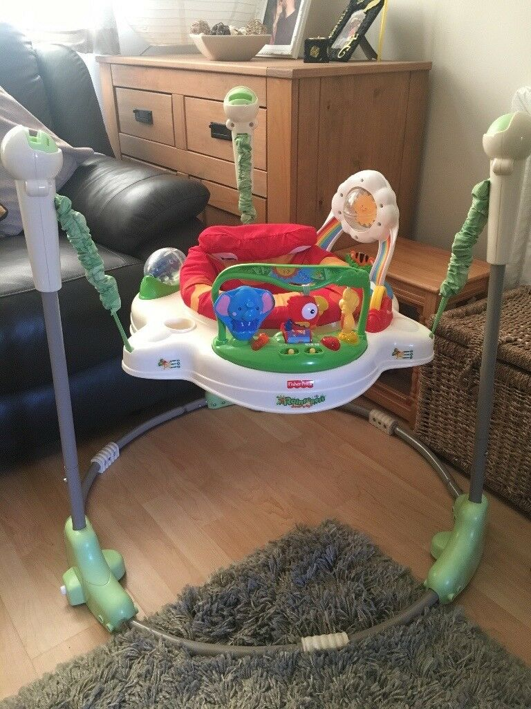 Fisher Price Rainforest Jumperooin Bournemouth, DorsetGumtree - Originally bought second hand, in full working order. A couple of the attachments are missing and there is a small stain on seat cover as shown in picture, has been washed regularly