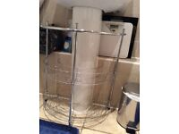 Chrome under sink organiser bathroom storage