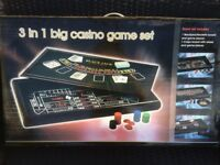3 in 1 Casino game set been used once in great condition.