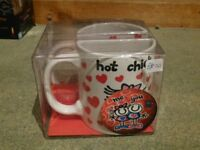 BRAND NEW, Me 2 You 'hot chick & hot pants' mugs (his & hers), unopened in original packaging