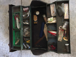 Vintage Tackle Box and Lures